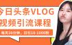 今日头条VLOG视频引流课程